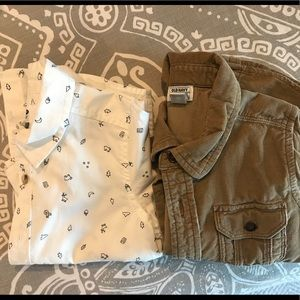 Lot of 2 Old Navy button up shirts 4T NWOT